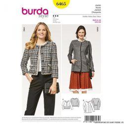 Patron Burda n°6465: Blazer parisienne