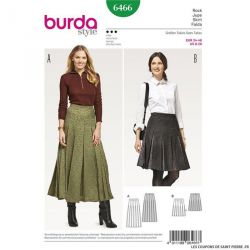 Patron Burda n°6466: Jupe plissée avec ceinture