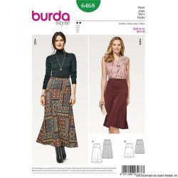 Patron Burda n°6468: Jupe étroite