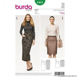 Patron Burda n°6469: Jupe crayon