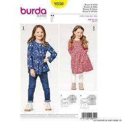Patron Burda n°9350: Blouse enfant