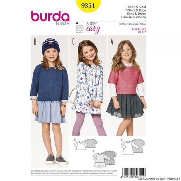 Patron Burda n°9351: Robe simple