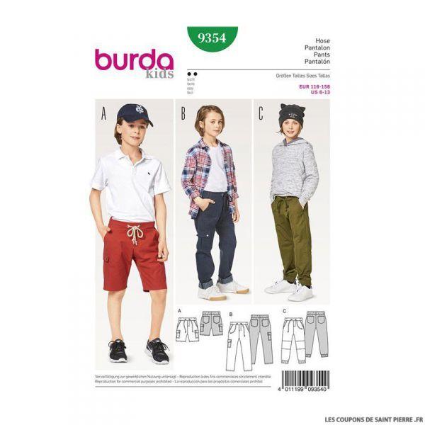 Patron Burda n°9353: Pantalon enfant
