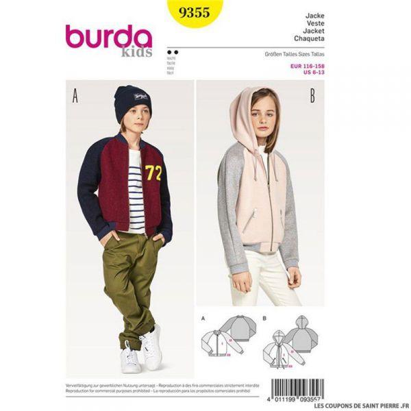Patron Burda n°9355: Veste enfant