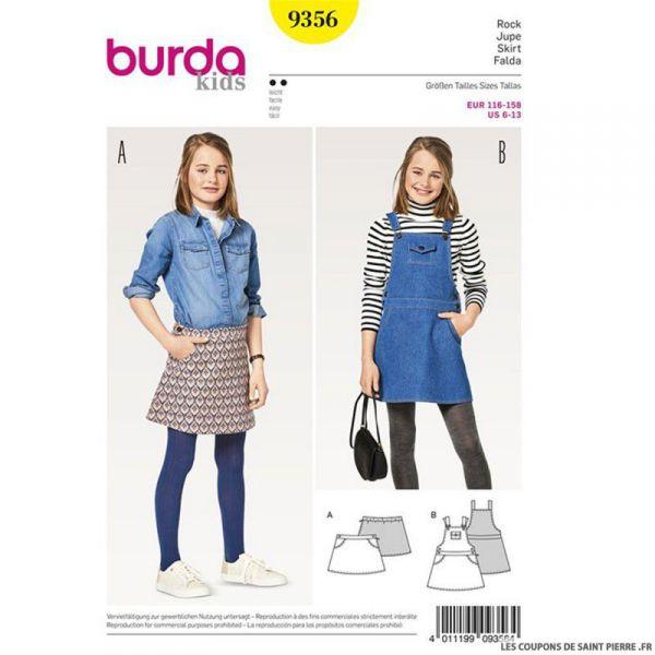 Patron Burda n°9356: Jupes à poches enfant