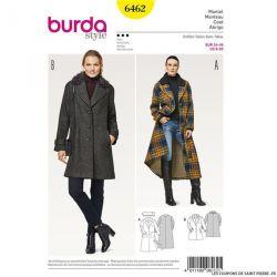 Patron Burda n°6462: Manteau clasique femme