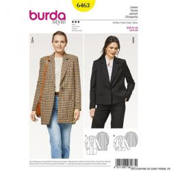 Patron Burda n°6463: Veste ample