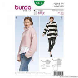 Patron Burda n°6476: Pullover