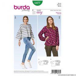 Patron Burda n°6477: blouses amples