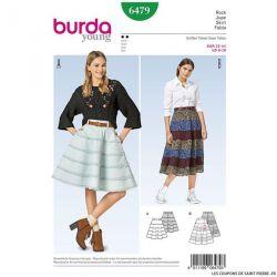 Patron Burda n°6479: Jupe cloche