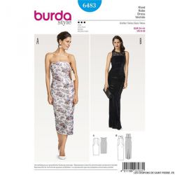 Patron Burda n°6483 : Robe sans bretelles