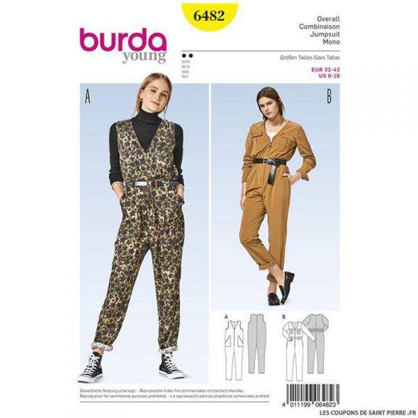 Patron Burda n°6482 : Combinaison décontracté