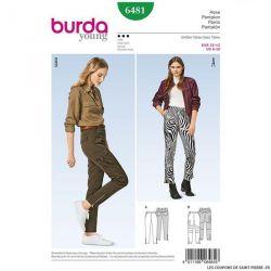 Patron Burda n°6481 : Pantalon étroit