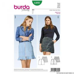 Patron Burda n°6480 : Jupe moderne