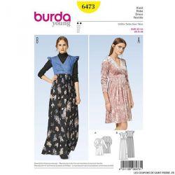 Patron Burda n°6473 : Robe cache coeur