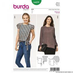Patron Burda n°6459 :Blouse manches bouffantes