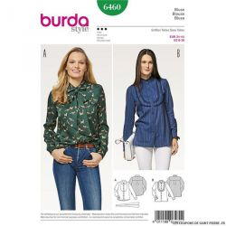 Patron Burda n°6460 : Chemisier à plastron