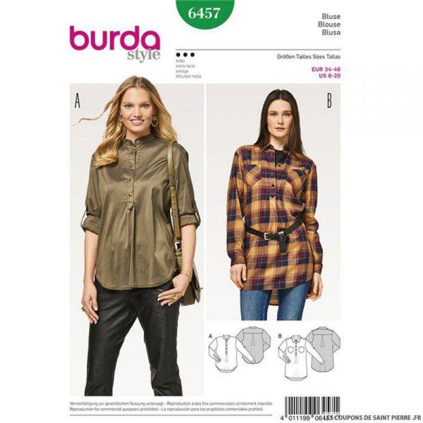 Patron Burda n°6457 : Chemisier polo