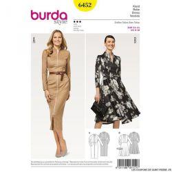 Patron Burda n°6452 : Robe droite