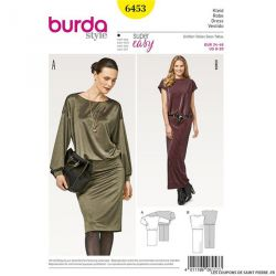 Patron Burda n°6453 : Robe confortable