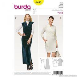 Patron Burda n°6455: Robe asymétrique