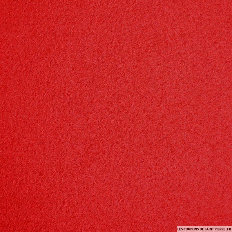 Tissu laine bouillie rouge - Les tissus de st pierre ...
