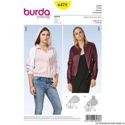 Patron Burda n°6478: Veste à capuche