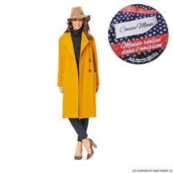 Patron n°6736 : Manteau col châle COUSU MAIN 3