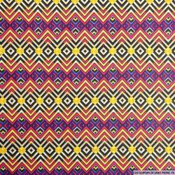 Coton imprimé aztèque violet