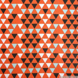 Coton imprimé triangle scandinave orange