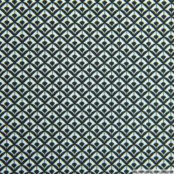Coton imprimé éventail noir