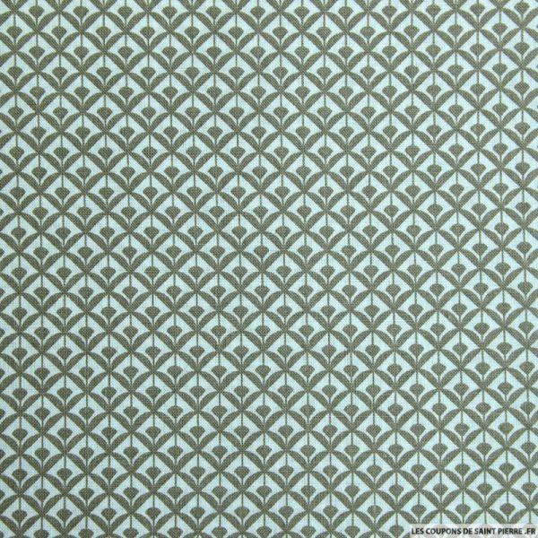 Coton imprimé éventail beige