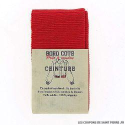 Bord côte ceinture - rouge