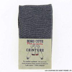 Bord côte ceinture - gris