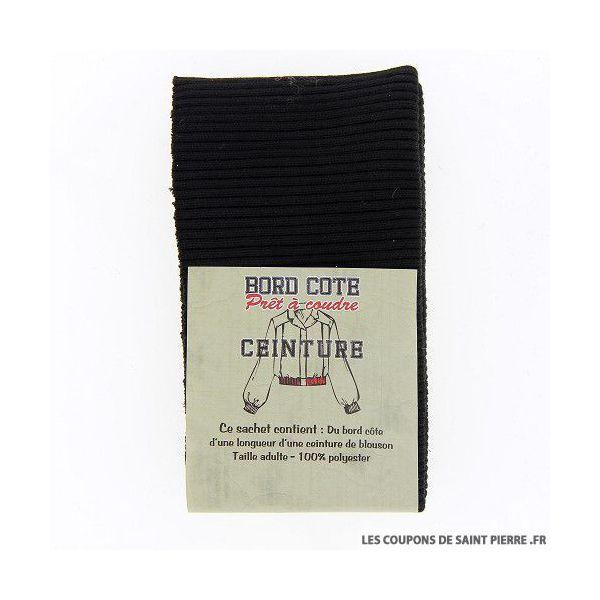 Bord côte ceinture - noir
