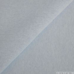 Tissu sweat minkee bleu glacier