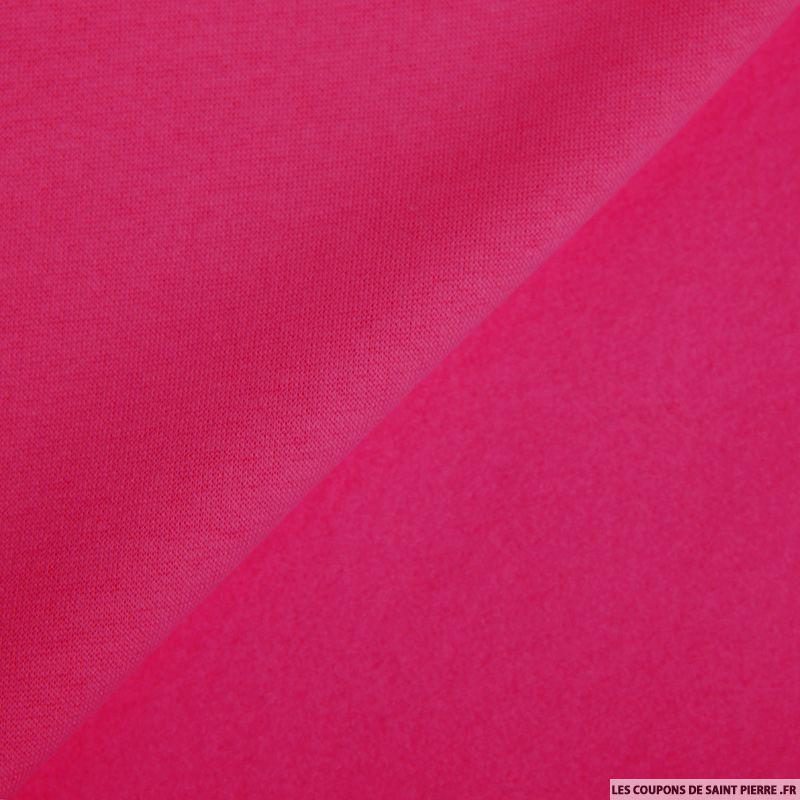 tissu sweat minkee rose fushia. Black Bedroom Furniture Sets. Home Design Ideas