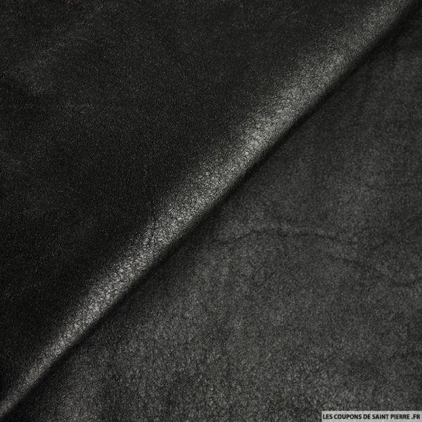 Tissu suédine marbré noir