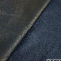 Suédine marbré bleu nuit