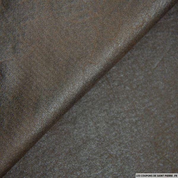 Tissu Suédine marbré marron