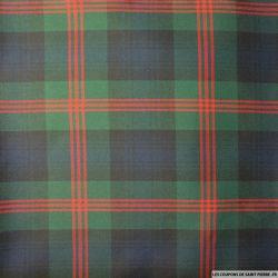 Clan écossais vert et marine lignes rouges