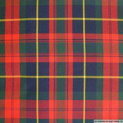 Clan écossais rouge, vert, marine ligne jaune