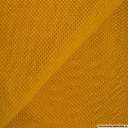 Tissu nid d'abeille moutarde