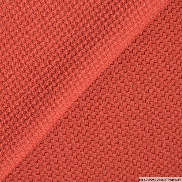 tissu polyester nid d 39 abeille rouille. Black Bedroom Furniture Sets. Home Design Ideas