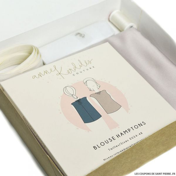 KIT Couture Blouse Hamptons Satin coquille d'oeuf