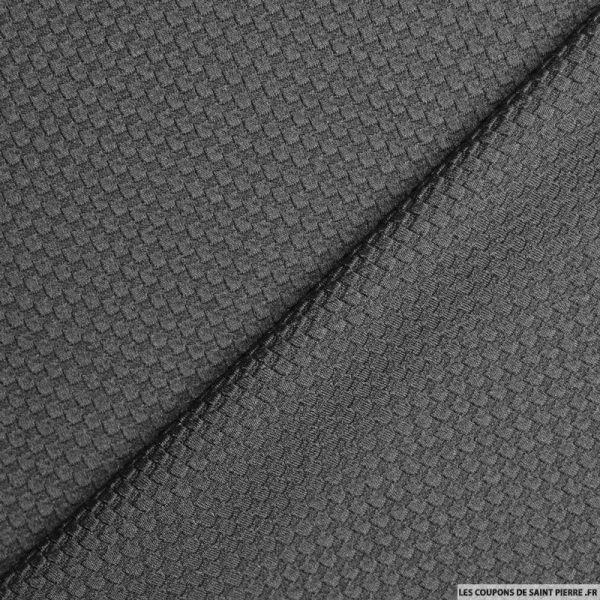 Tissu Polyester nid d'abeille gris