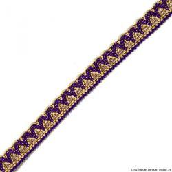 Galon ethnique fin violet au mètre