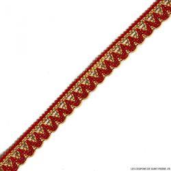 Galon ethnique fin rouge au mètre
