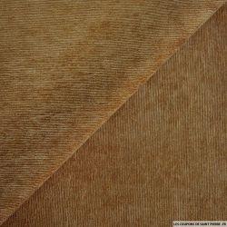 Velours polyester côtelé chamois