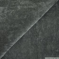 Velours polyester côtelé anthracite